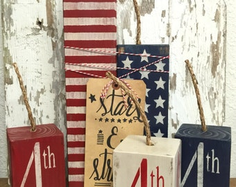 Fourth Of July Decor   Fourth Of July Decorations   Fire Crackers    Primitive Decor