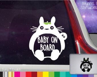My Neighbor Totoro *Baby On Board* Vinyl Decal