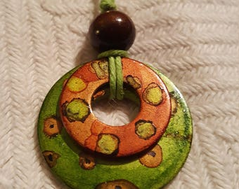 Unique one of a kind Washer Necklace.