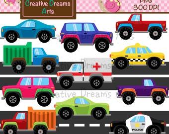 40% Off! Cars Digital Clip Art Instant Download