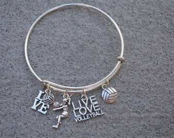 Volleyball Gift -Volleyball Bracelet –Volleyball Gift - Perfect for Volleyball Players, Volleyball Coaches & Team Gifts