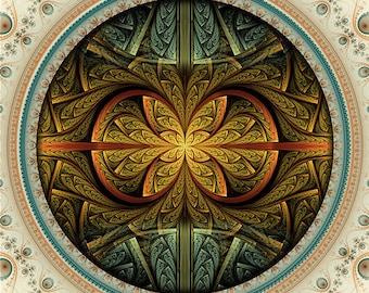 CALEA -- Tapestry, Wall Hanging - Original Pumayana Visionary Healing Art, Spiritual, Psy, Shamanic, Sacred Geometry, Entheogenic Art