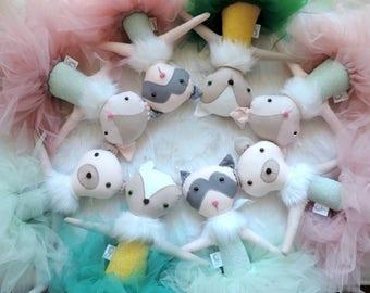 Raccoon Plush - Raccoon Doll - Textile Doll - Raccoon Toy - Raccoon Plush Toy - Forest Doll - Nursery Decor - Gift For Girls - Nursery