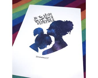 Mother and Daughter Galaxy Print