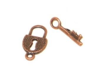 18 x 10mm Copper Toggle Clasp