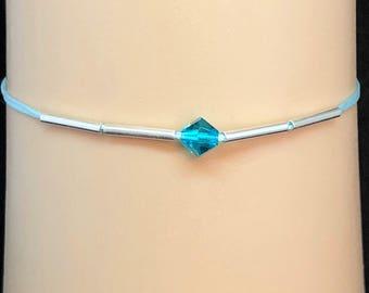 Shimmering Swarovski crystal minimalist bracelet