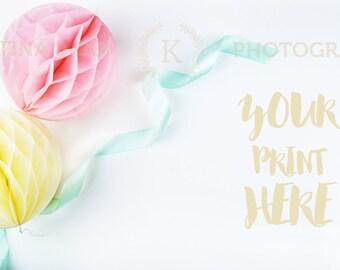 Styled Stock Photography | Wedding Styled Desktop Image | mint & blush |