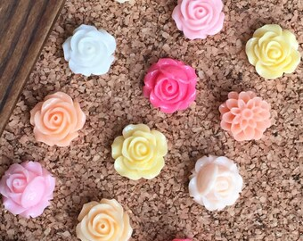Easter gifts for girls etsy pretty push pinsflower thumb tackstween girl giftsgift for boss negle Image collections