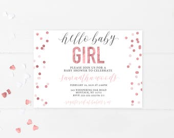 Baby Shower Invitation, Baby Shower Invitation Printable, Baby Shower, Printable Baby Shower Invitation, Baby Shower Invites for Girls [712]