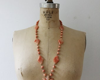 vintage quartz necklace / 70s stone necklace / Leona Stone necklace