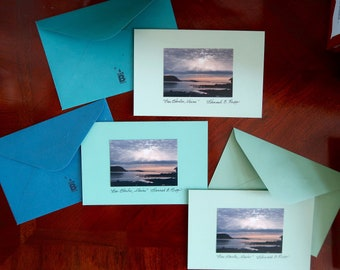Bar Harbor, Maine Photography Notecards (set of 3 handmade cards)