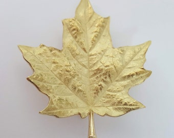 Tiffany & Company 18K Yellow Gold Maple Leaf Brooch/Pendant