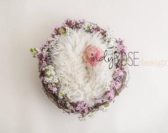 Fresh floral wreath newborn backdrop set of 2