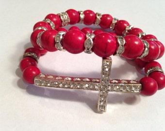 Bracelet beaded set Great gift idea cheap inexpensive gift teen coworker religious Christian latest fad stacking bracelet
