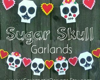 Wedding Garland, Sugar Skulls, Bride and Groom, Mexican Wedding Garland, Day of the Dead, Dia de los Muertos