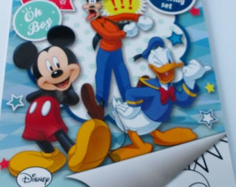 set of stickers and coloring Mickey Donald goofy format A4 color book