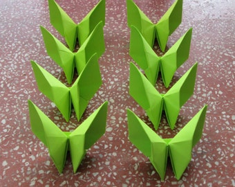 100 Paper Origami Butterfly- Green Color (F 2), 4  x 4 inches (10 x 10 cm) only for  12.00 USD