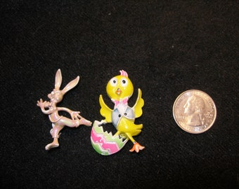 Pair of Enamel Easter Figurals(960)
