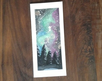 """Galaxy/Northern Lights Card: """"I Love You Further Than I Can See"""" Father's Day, Mother's Day, Birthday, Any Occasion"""