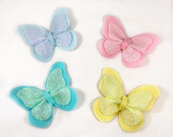 The Lucida: pastel felt and glitter butterfly