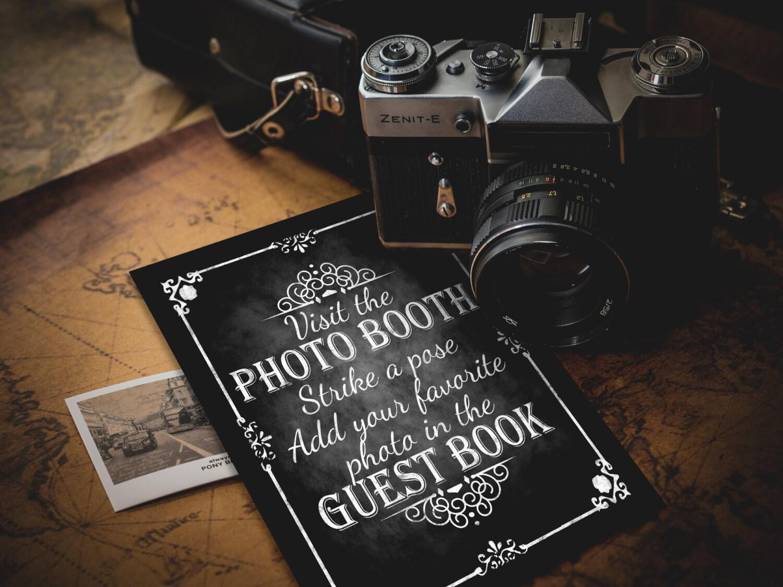photobooth guestbook strike a pose printable wedding