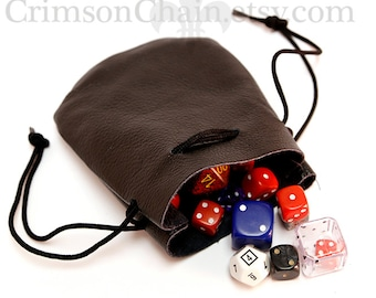 Small Dice Bags - Wholesale Lot of 10 from Crimson Chain Leatherworks RPG tabletop games geek