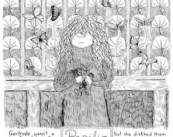 Gertrude : Bande dessinée de papillons