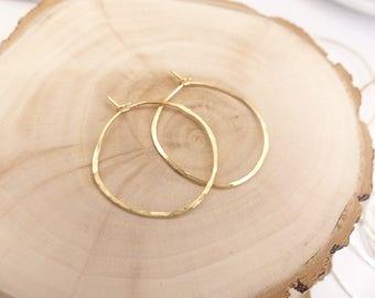 Hand Hammered gold hoop earrings, Silver hoop Earrings,Gypsy Hoops,Large Hoops,Endless Hoops, classic hoop earrings, birthday present,