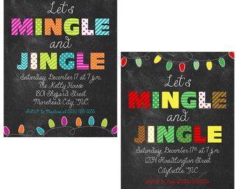 Mingle and Jingle Christmas Party Invitation