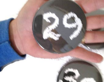 "Number Magnets LARGE - Choose your numbers -  Back to School Chalkboard Design Calendar Each 3"""