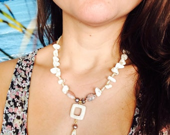 White sand necklace.