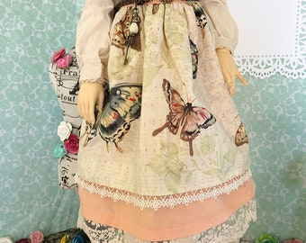Mori Kei / Vintage Style Skirt and Belt for SD/SD13