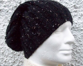 KNITTING PATTERN/SEATTLE Chunky Knit Ribbed Hat for Men/Easy/Knit Round/Chunky Knit Beanie/Slouchy Hat Pattern/Mens Hat Knitting Patterns