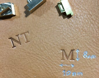 Custom Engraving, Personalize initials,Custom Initials ,text engraving directly on the leather