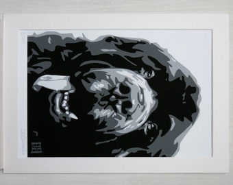 Black Newfoundland ART PRINT