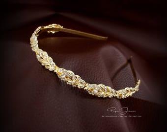 Rhinestone Bridal Tiara Gold flower crown Princess Wedding Tiara Crystal Bridal headpiece leaf crystal headpiece Gold Tiara Silver Tiara