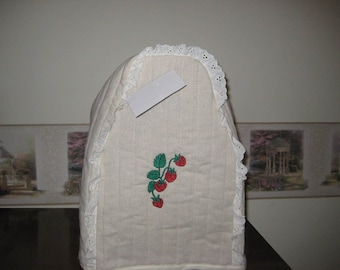 Mixer Cover Strawberries Embroidered Design