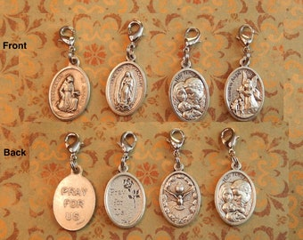 Regligious Charms (Sold by Each) - Our Lady of Guadalupe/Guardian Angel/Holy Family/St Francis of Assisi