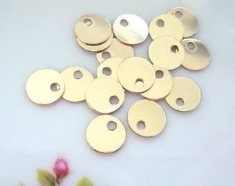 10 pcs, 6mm, 26 gauge, 14K Gold Filled Disc, stamping, tag