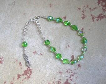 Goddess Prayer Bead Bracelet with Goddess Pendant