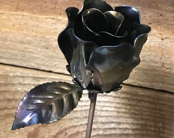 steel rose steel anniversary 11th wedding anniversary Mother's Day flowers metal art Valentine's Day gift for her