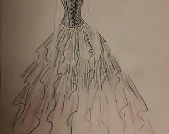 Short Prom Dresses Sketches