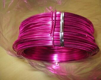 2 mm aluminum wire coil, fuchsia color