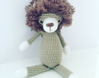Made to Order Larry the Lion Amigurumi Lion Crochet Lion