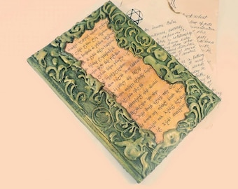 Book of shadows, Grimoire, Spell book, Decorative book, Witch diary, witchcraft, wicca, Journal, notebook, altered book