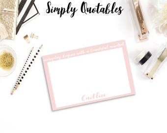 Custom Printable/Digital Quote Note Card (5x7)