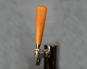 Wood Beer Tap Handle - African Mahogany - 5.5 Inches Tall - Made To Order