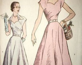 Butterick Retro 1950s casual dress reissued pattern uncut and factory folded Out of Print