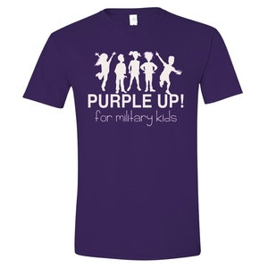 Purple Up! for Military Kids t-shirt - April Month of Military Child - Military Child Month t-shirt