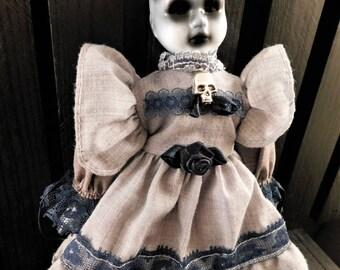 """Keket 8"""" OOAK Porcelain Horror Doll"""